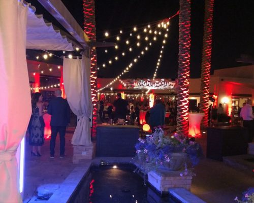 Outdoor Reception Event With Lumination
